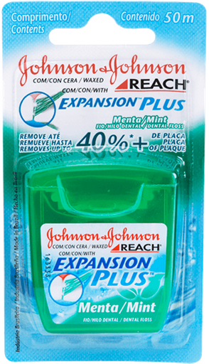 0d47d65a0 Fio Dental REACH® EXPANSION PLUS™ Menta 50m em sua casa pela Rappi!