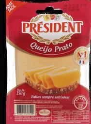 Queijo Prato President Fatiado 150g