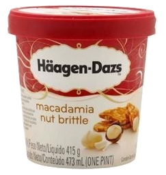 Sorvete Haagen-Dazs Macadamia Nut Brittle 473 mL