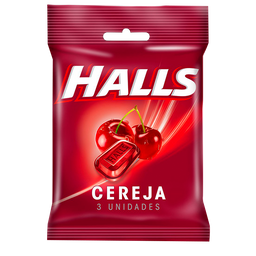 Bala HALLS Cereja (10 Unidades) 28g