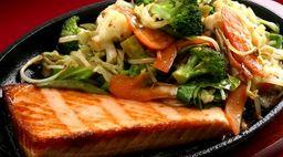 Teppanyaki salmão...Individual