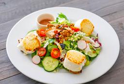Salada De Queijo De Cabra Quente (Opção Vegetariana)