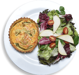 Quiche integral de abobrinha com cottage