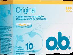 Absorvente Interno OB Médio Original Com 10 U