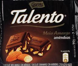 Chocolate Talento Meio Amargo Amendoim 90 g