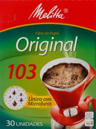 Filtro de Papel Mellitta Grande Nº103 Com 30U