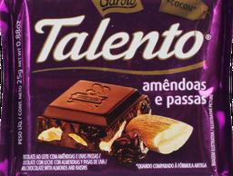 Chocolate Garoto Talento Amendoas com Uva Passas 25 g