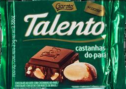 Chocolate Garoto Talento Mini Castanha Para 25 g