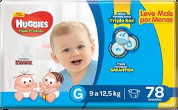 Huggies Fralda Tripla Proteção Hiper Tamanho G