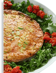 Omelete de Queijo Tomate e Orégano