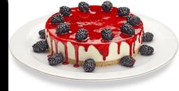 Torta Cheesecake com calda de Morango