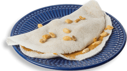 Tapioca Recheada Com Banana E Pasta De Amendoim