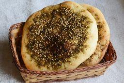 Pão Sírio com Zaatar