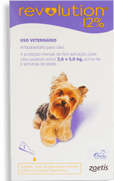 Anti Pulgas E Carrapatos Zoetis Revolution 12% Cães 5-10 - 60mg