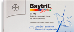 Baytril Flavour 50mg - 10 comp