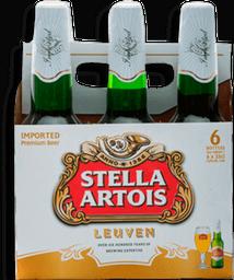Pack Cerveja Stella Artois 275ml 6 unidades