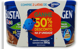 Sustagen Kids Chocolate 380g Com 02 Unidades Ganhe 50% De Descon