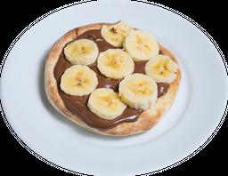 Esfiha chocolate banana