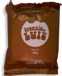 Brownie do  Luiz Individual Doce De Leite 80g