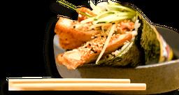 Temaki salmão hot cubes