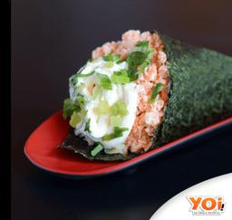 Temaki salmão grelhado completo