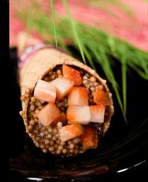 Temaki brigadeiro com morango