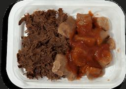 Carne Desfiada com Nhoque