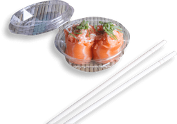 Porção gunkas de salmão - 8 unidades