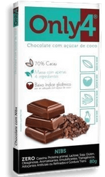 Chocolate Only4 Nibs Cacau 80g