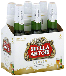 6 x Cerveja Stella Artois Long Neck 275 mL