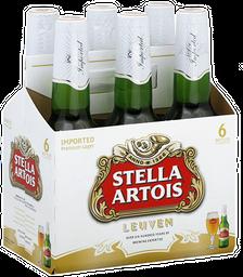 6 x Cerveja Stella Artois Long Neck 275 mL