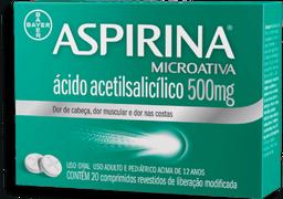 Aspirina Microativa Aspirina Remédio Microativa 500 Mg Bayer