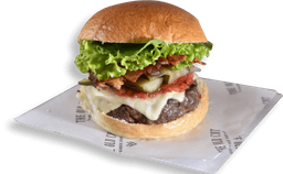 Cheese Burger Com Relish De Pepino