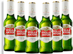 6 x Cerveja STELLA ARTOIS Long Neck 275ml