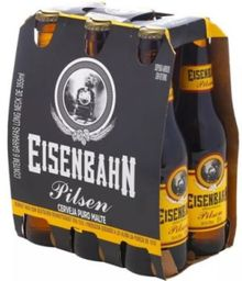 Cerveja Six Pack EISENBAHN Pilsen Long Neck 355ml