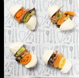 Mini sanduiche de búfala - 4 Unidades