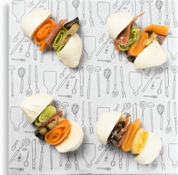 Mini sanduiche de búfala