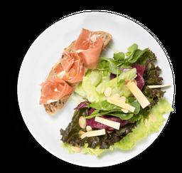 Salada de presunto parma