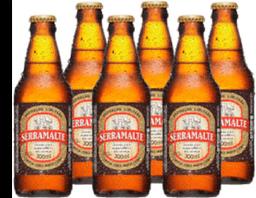 6 x Cerveja SERRAMALTE 300ml
