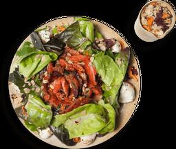 Salada de Folhas com Gravlax de Salmão