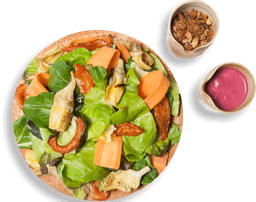 Salada de Folhas com Alcachofra