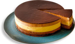 Bavaroise de Três Chocolates