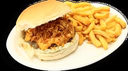 Burger Crispy + Fritas