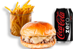Onion Burger + Fritas + Refrigerante