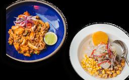 Combo Ceviche Clássico + Arroz com Frutos do Mar