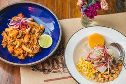 Ceviche de Arroz com Frutos do Mar
