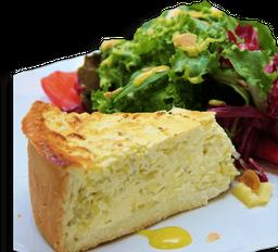 Quiche com Salada
