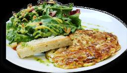 Omelete Caprese com Salada