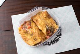 Omelete de Queijo Gouda e Tomatinhos