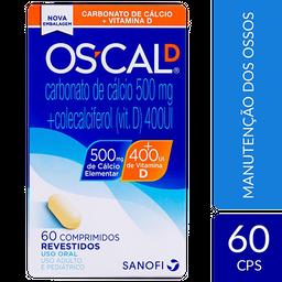 Os-Cal Oscal D Carbonato De Cálcio + Vitamina D (500Mg + 400Ui)